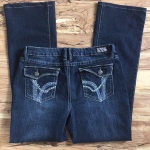 Earl jeans size 8 women's boot bling